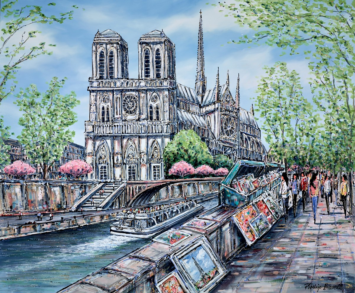 Notre Dame, Paris by phillip bissell -  sized 47x39 inches. Available from Whitewall Galleries